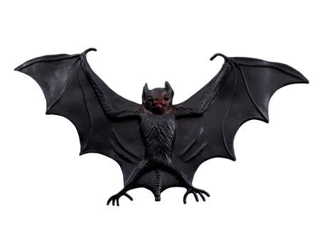 Scary Halloween bat isolated on a white background Archivio Fotografico