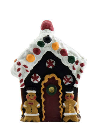 Gingerbread house isolated on a white background Imagens