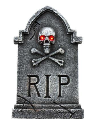 Tombstone isolated on a white back ground Zdjęcie Seryjne