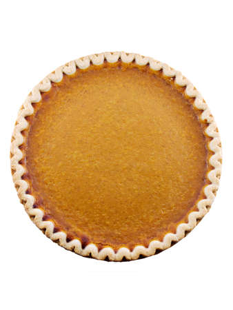 Pumpkin pie isolated on a white background Stock Photo