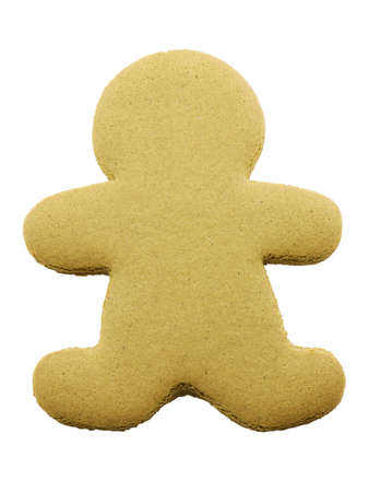 Blank gingerbread cookie isolated on a white background photo