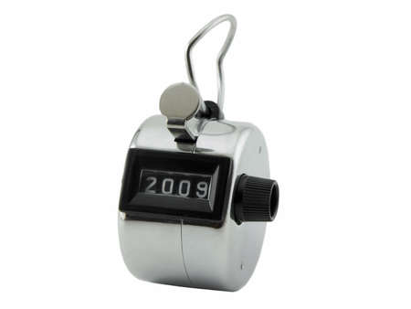 clicker: 2009 on a counter or clicker, isolated on white Stock Photo