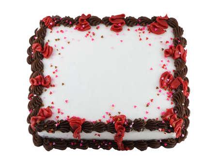 霜シートケーキ、白い背景で隔離 写真素材