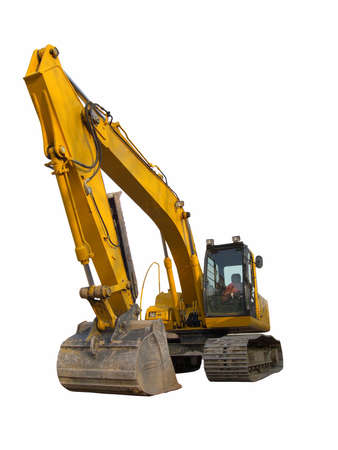 Excavator isolated on a white background Stock Photo