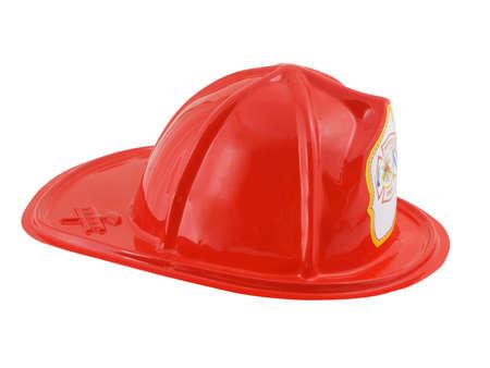 白い背景で隔離の消防士ヘルメット