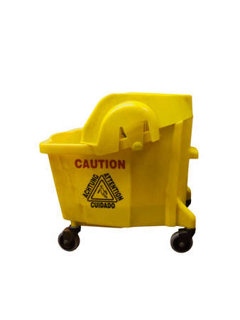 Mop bucket isolated on a white background