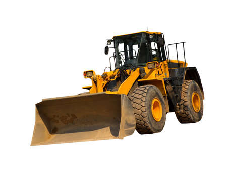 Front-end loader isolated on a white background
