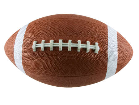 American football isolated on a white background