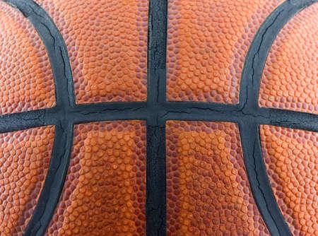 バスケット ボールのテクスチャをクローズ アップ