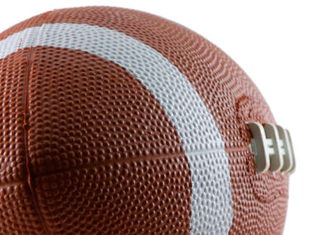 Close up of a football isolated on white Stock Photo