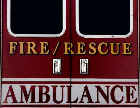 救急車のドア 写真素材