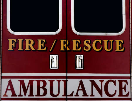 Ambulance doors Stock Photo - 3010909