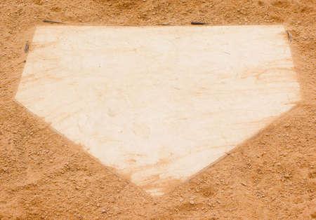 野球ダイヤモンド ホーム プレート 写真素材