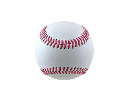 白い背景で隔離の野球