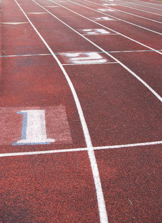 Track and field for running races and sprints