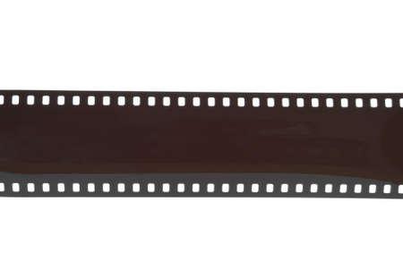 35mm camera film strip isolated on white Reklamní fotografie