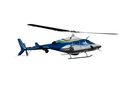 白い背景で隔離のヘリコプター 写真素材