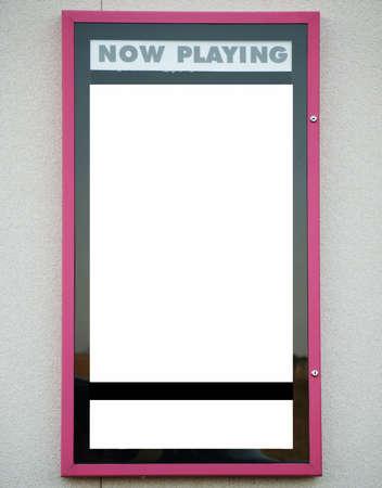 movie sign: En blanco para firmar jugando ahora cine