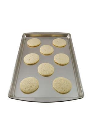 cookie sheet: Sugar cookies freshly baked on a cookie sheet