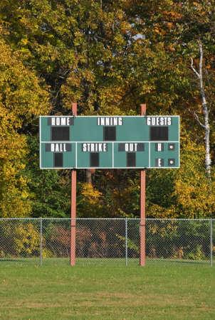 Baseball scoreboard 版權商用圖片