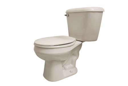 latrine: Toilet isolated on a white back ground Stock Photo