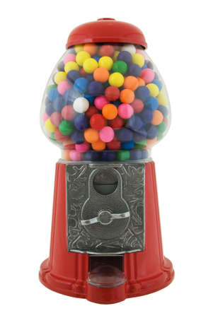 gumball: Gumball machine isolated on a white background Stock Photo