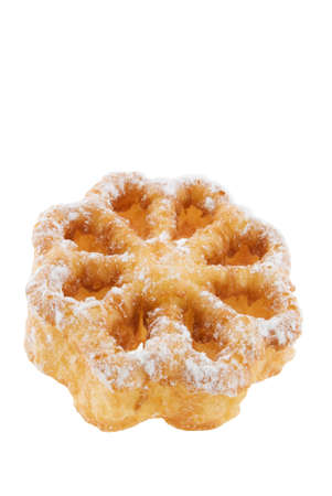 Rosette pastry isolated on a white background