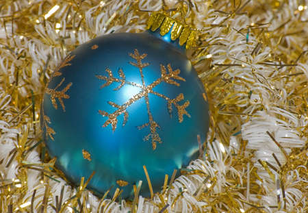 Vintage Christmas ornament surrounded by garland