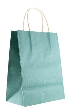 Shopping or gift bag isolated on white background Stock Photo