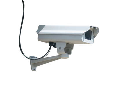 Security camera isolated on a white background Stock Photo - 4857200