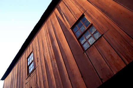 Abstract view of barn windows photo