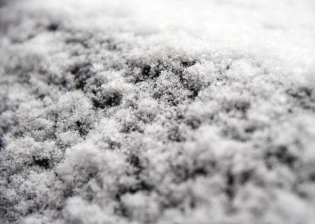 Snow closeup on black background Standard-Bild