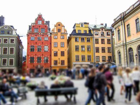 Buildings in Stortorget square in Stockholm