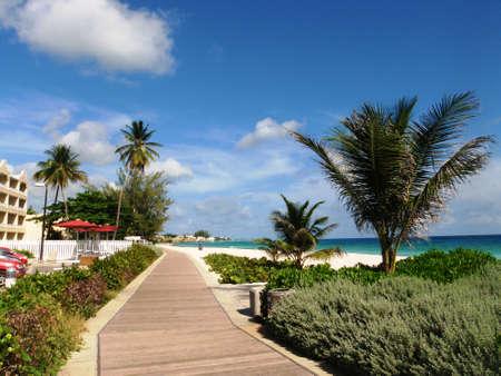 Boardwalk la Barbade sur la côte sud