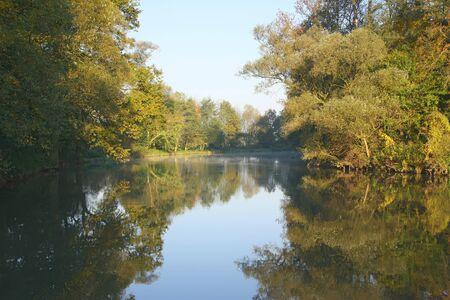 morava: View of the tranquil river (Morava, Czech Republic)