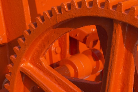 Detailed view of the red-coated gears Stock Photo - 12997308