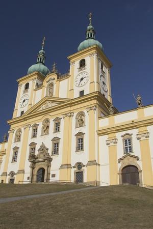 olomouc: Basilica of Our Lady of Visitation named Svaty Kopecek  near the town Olomouc  Czech Republic
