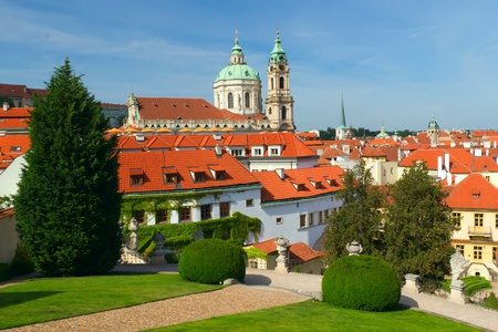 Prague  View of the Church of St  Nicholas from Vrtbovska garden   Czech Republic, Eastern Europe   photo