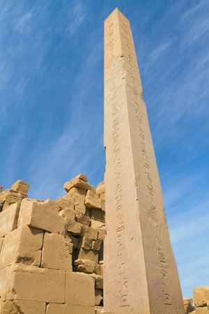Obelisk of Queen Hatshepsut in Karnak temple   Luxor, Egypt