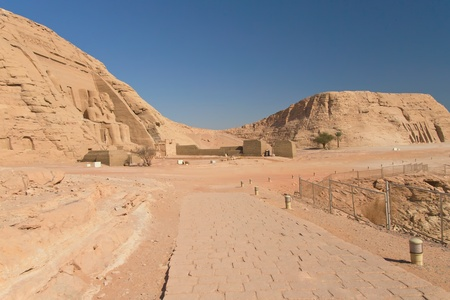 General view at the Abu Simbel Temple and Nefertari Temple  Nubia, Egypt  photo