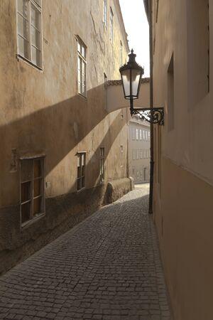 refurbish: Old street in Prague  Czech Republic