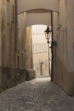 Old street in Prague  Czech Republic  photo