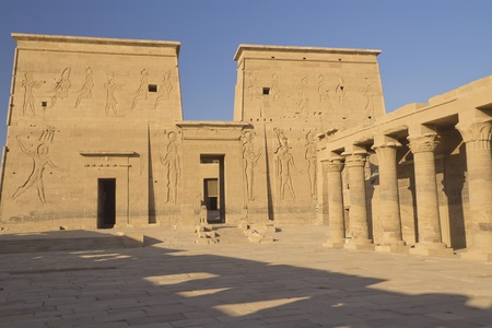 The Temple of Isis at Philae island  Near the town of Aswan   Egypt   photo