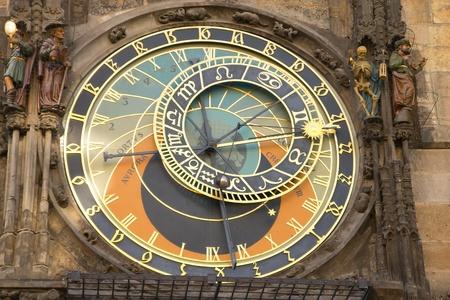 Astronomical clock in Prague Town hall  Czech Republic  photo