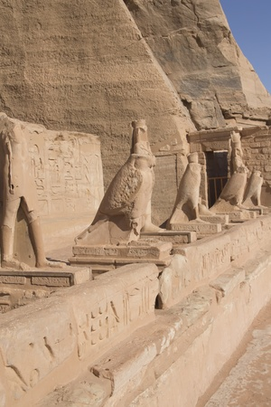 Sculptures in Abu Simbel Temple  Aswan, Egypt   Stock Photo - 13283454