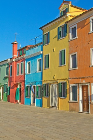 Color houses in Venice island Burano  Italy   photo