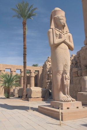 Rameses II Statue at Karnak Temple   Luxor, Egypt