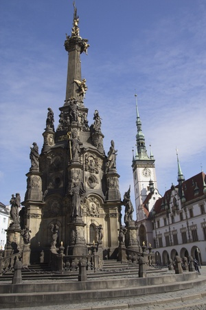 The Holy Trinity Column in Olomouc is a Baroque monument in the Czech Republic, built in 1716-1754 in honor of God  The monument is enlisted into the UNESCO World Cultural Heritage