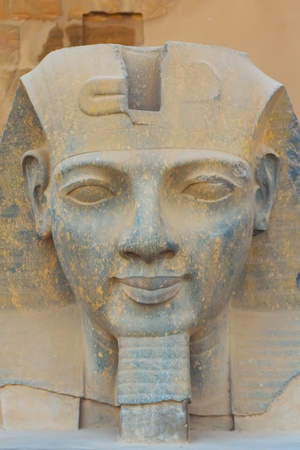 The sculpture of the King Ramses II in Luxor temple   Egypt   photo