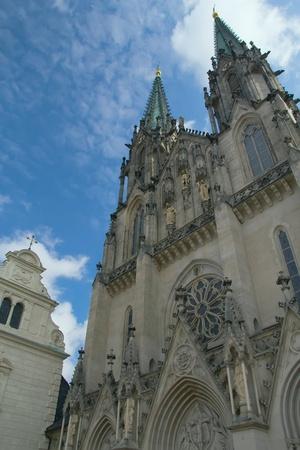 olomouc: Saint Wenceslas Cathedral in Olomouc  Czech Republic, Central Europe   Stock Photo